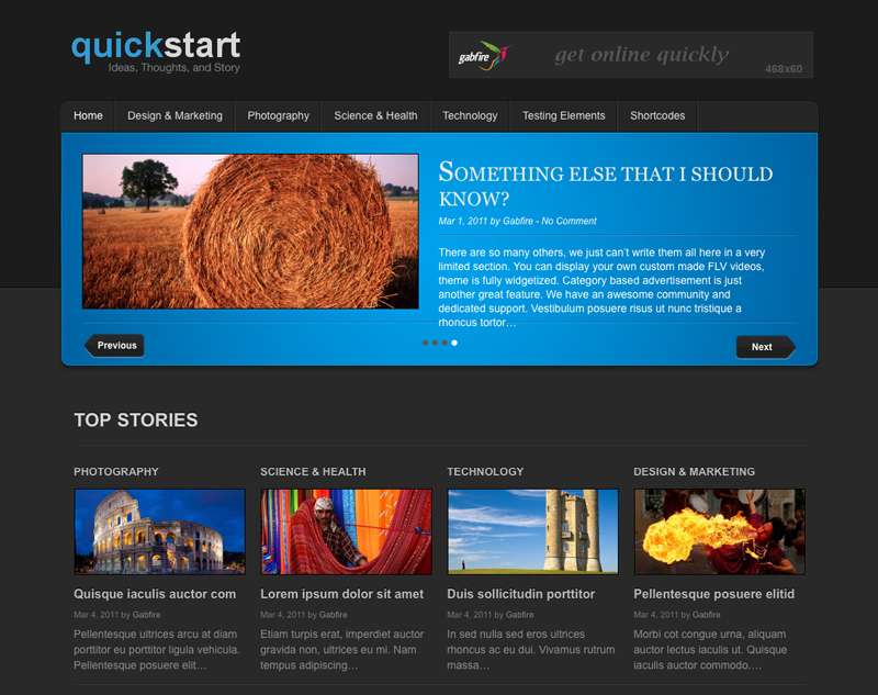QuickStart Free WordPress Theme